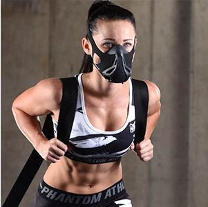 Mit der Phantom Athletics Trainingsmaske kannst du den Widerstand während des Trainings einstellen